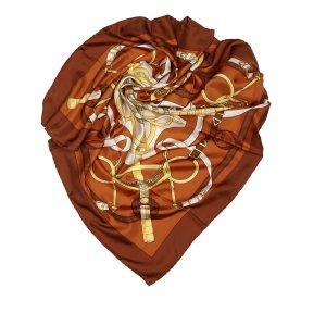 Hermès Sjaal lichtbruin Zijde