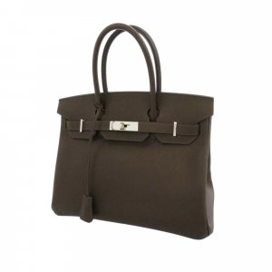 Hermès Handbag brown leather