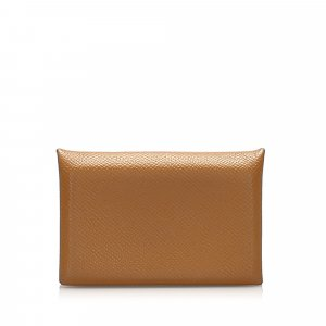 Hermès Wallet light brown leather