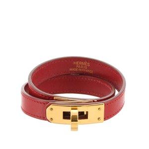 Hermès Cinturón rojo Cuero