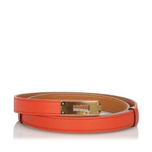 Hermès Belt red leather
