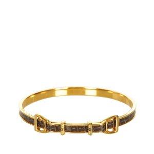 Hermès Bracelet noir cuir