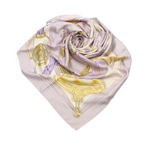 Hermès Bufanda púrpura Seda