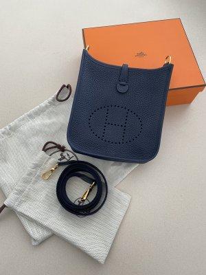 Hermès Borsetta mini blu scuro Pelle