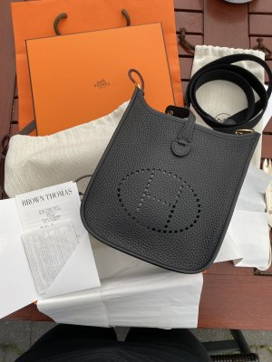 Hermès Torebka mini czarny-złoto