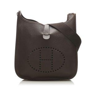 Hermès Crossbody bag dark brown leather