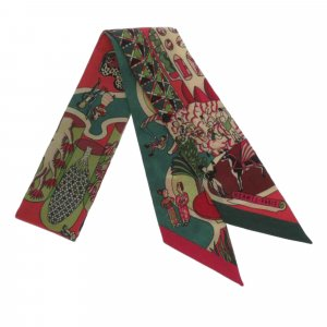 Hermes Exposition Universelle Twilly Silk Scarf