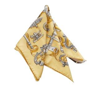 Hermes Ferronnerie Printed Silk Scarf