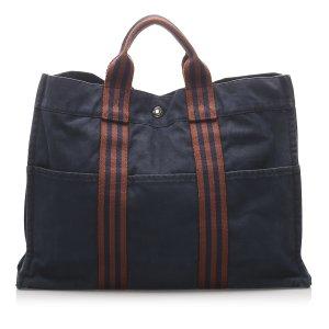 Hermès Sac fourre-tout bleu