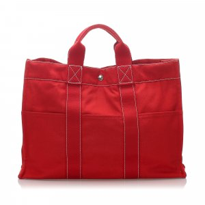 Hermès Sac fourre-tout rouge