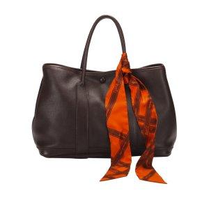 Hermès Tote dark brown leather