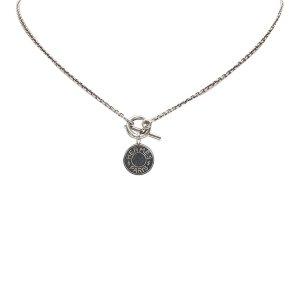 Hermes Gold-Tone Pendant Necklace