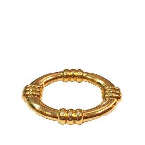 Hermès Bufanda color oro metal