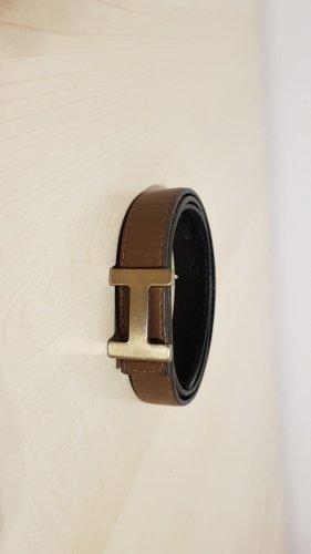 Hermès Lederen riem bruin