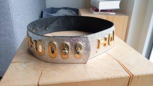 Hermès Waist Belt silver-colored-gold orange mixture fibre