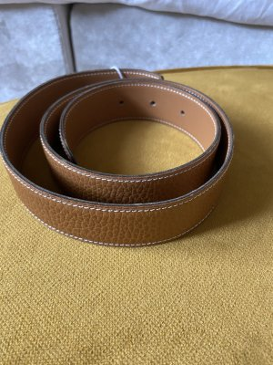 Hermès Leather Belt cognac-coloured
