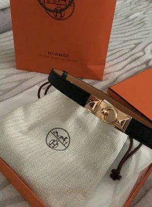 Hermès Leather Belt black