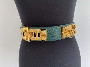 Hermès Cinturón de cadera verde bosque Cuero