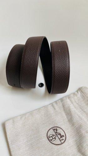Hermès Leather Belt black brown-black