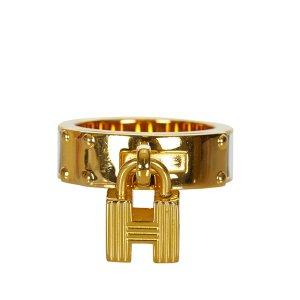 Hermès Sjaal goud Metaal