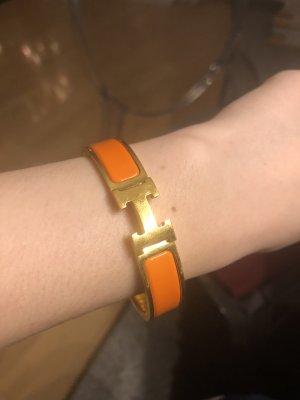 Hermès Bracelet gold-colored-neon orange