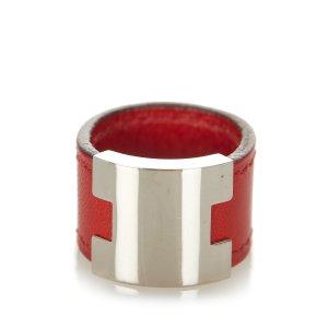 Hermès Ring silver-colored metal