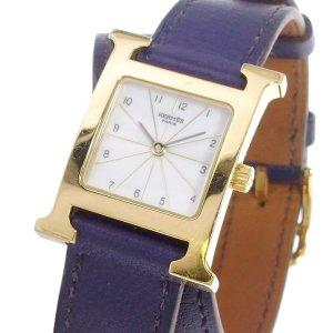 Hermès Reloj color oro acero inoxidable