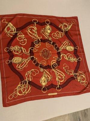 Hermès Jedwabny szal czerwony
