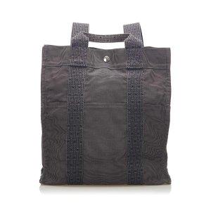 Hermès Sac à dos gris foncé