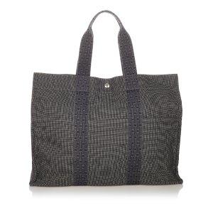Hermès Sac fourre-tout gris foncé