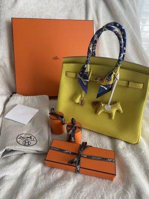 Hermès Handbag yellow-lime yellow