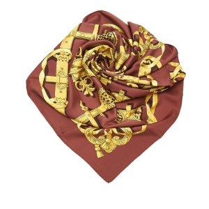 Hermès Bufanda marrón Seda
