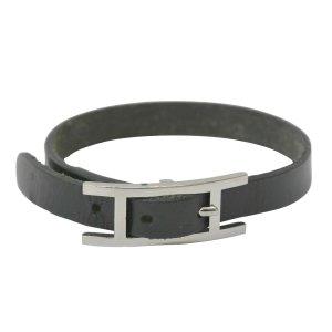 Hermès Hermes Hapi 3 Belted Bracelet Bangle Leather Metal