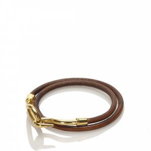 Hermes Jumbo Hook Leather Bracelet