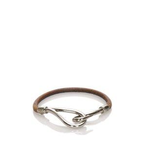 Hermes Jumbo Hook Leather Bracelet