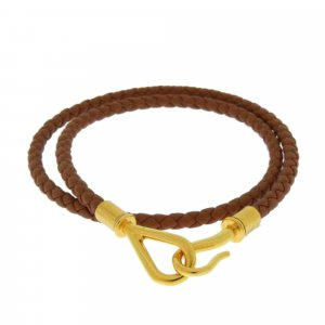 Hermes Jumbo Hook Leather Choker
