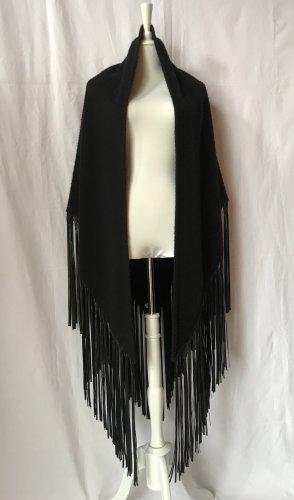 Hermès Wełniany płaszcz czarny Kaszmir