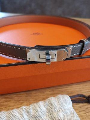 Hermès Hebilla del cinturón marrón grisáceo