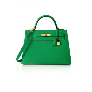 Hermes kelly 32cm in Bambou color, like new