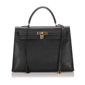 Hermès Sacoche noir cuir