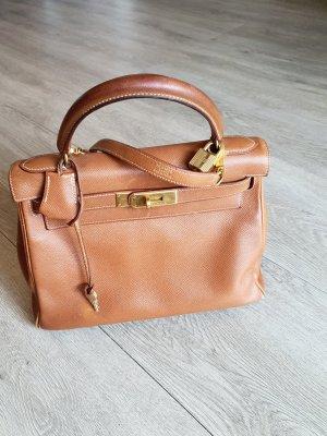 Hermès Carry Bag cognac-coloured leather