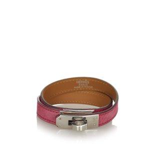 Hermès Bracelet red leather