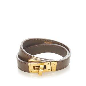Hermès Bracelet dark brown leather
