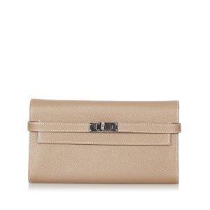 Hermès Wallet beige leather