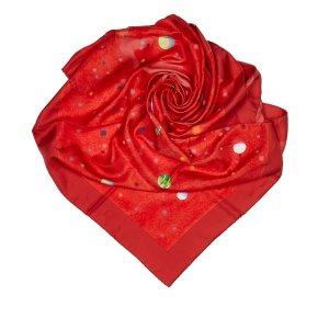 Hermès Sjaal rood Zijde