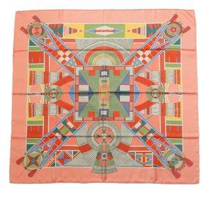 Hermes LArt Indien des Plaines Silk Scarf