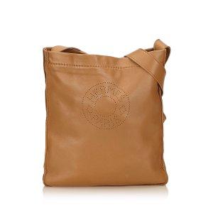Hermes Leather Clou de Selle Shoulder Bag