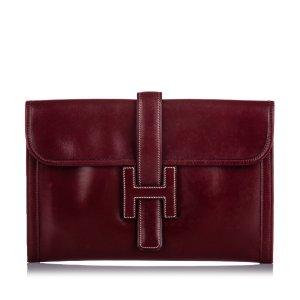 Hermes Leather Jige PM Clutch Bag