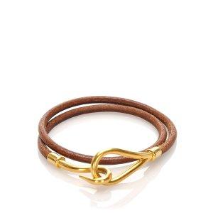 Hermes Leather Jumbo Hook Bracelet