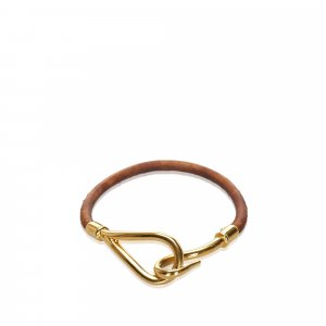 Hermes Leather Jumbo Hook Bracelet